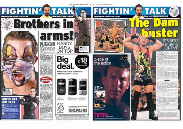 Jeff Hardy and Rob Van Dam in the Daily Star