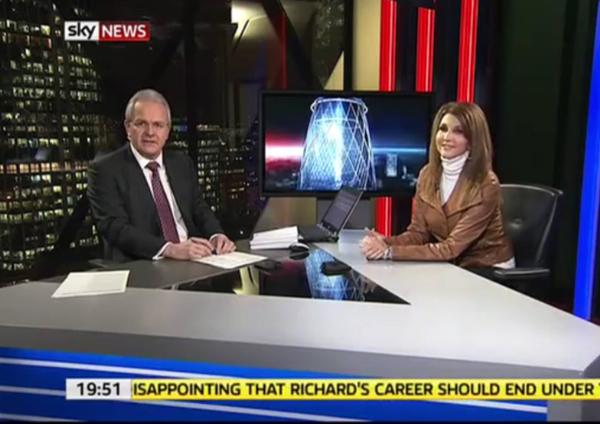 Dixie Carter on Sky News